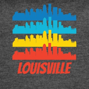 Retro Louisville KY Skyline Pop Art - Women's Vintage Sport T-Shirt