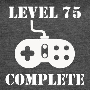 Level 75 Complete 75th Birthday - Women's Vintage Sport T-Shirt