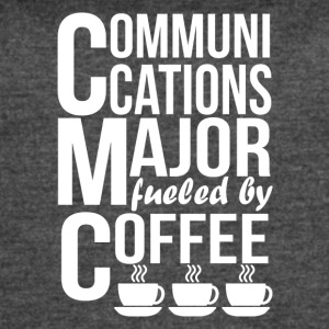 Communications Major Fueled By Coffee - Women's Vintage Sport T-Shirt