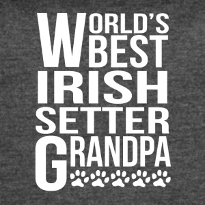 World's Best Irish Setter Grandpa - Women's Vintage Sport T-Shirt