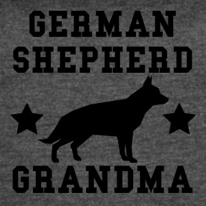 German Shepherd Grandma - Women's Vintage Sport T-Shirt