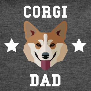 Corgi Dad Dog Owner - Women's Vintage Sport T-Shirt