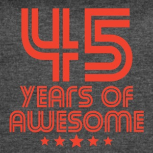 45 Years Of Awesome 45th Birthday - Women's Vintage Sport T-Shirt