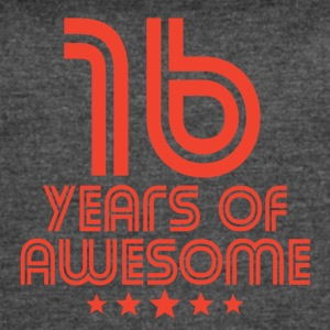 16 Years Of Awesome 16th Birthday - Women's Vintage Sport T-Shirt