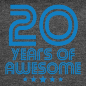 20 Years Of Awesome 20th Birthday - Women's Vintage Sport T-Shirt