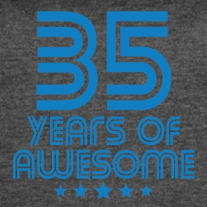 35 Years Of Awesome 35th Birthday - Women's Vintage Sport T-Shirt