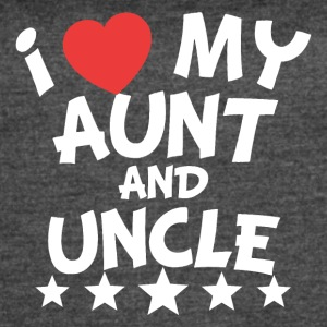 I Heart My Aunt And Uncle - Women's Vintage Sport T-Shirt