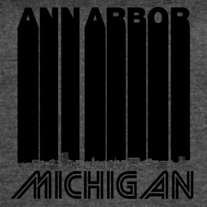 Retro Ann Arbor Michigan Skyline - Women's Vintage Sport T-Shirt