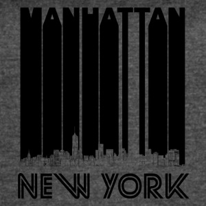 Retro Manhattan New York Skyline - Women's Vintage Sport T-Shirt