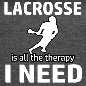 Lacrosse is my therapy - Women's Vintage Sport T-Shirt