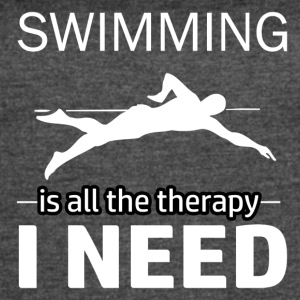 Swimming is my therapy - Women's Vintage Sport T-Shirt