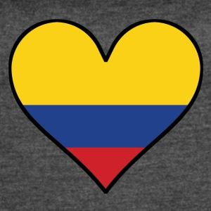 Colombian Flag Heart - Women's Vintage Sport T-Shirt