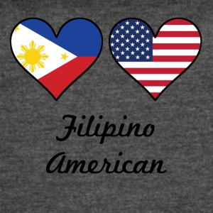 Filipino American Flag Hearts - Women's Vintage Sport T-Shirt