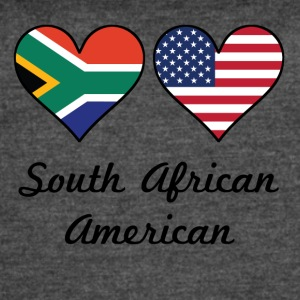 South African American Flag Hearts - Women's Vintage Sport T-Shirt