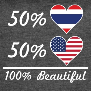 50% Thai 50% American 100% Beautiful - Women's Vintage Sport T-Shirt