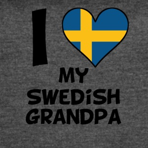 I Heart My Swedish Grandpa - Women's Vintage Sport T-Shirt