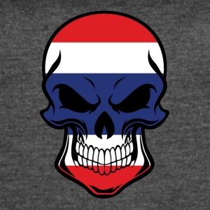 Thai Flag Skull - Women's Vintage Sport T-Shirt