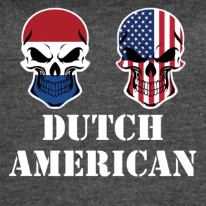Dutch American Flag Skulls - Women's Vintage Sport T-Shirt