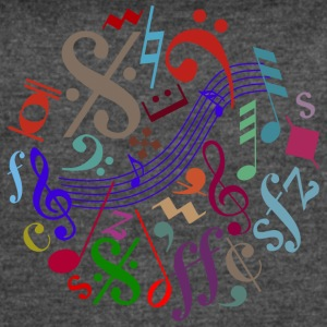 music signs - music notes - Women's Vintage Sport T-Shirt
