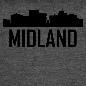 Midland Texas City Skyline - Women's Vintage Sport T-Shirt