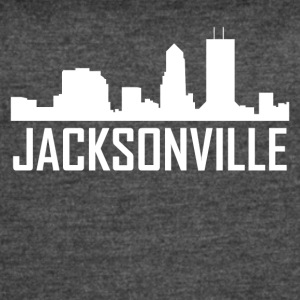 Jacksonville Florida City Skyline - Women's Vintage Sport T-Shirt