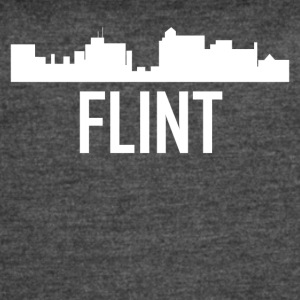 Flint Michigan City Skyline - Women's Vintage Sport T-Shirt