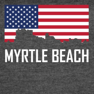 Myrtle Beach South Carolina Skyline American Flag - Women's Vintage Sport T-Shirt