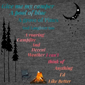 IMG 3007 camping give me my Cabin shirt , teeshirt - Women's Vintage Sport T-Shirt