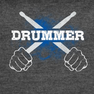 Drummer Drum Sticks Funny Love Percussion Rock - Women's Vintage Sport T-Shirt