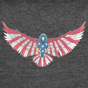 Fly America, Fly Eagle Flag - Women's Vintage Sport T-Shirt