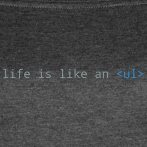 Life is Like an Unordered List (Blue) - Women's Vintage Sport T-Shirt