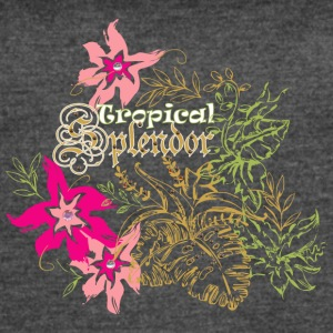 Tropical flowers - Women's Vintage Sport T-Shirt