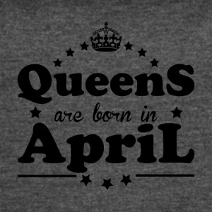 Queens Born April - Women's Vintage Sport T-Shirt