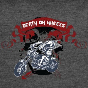 death_on_wheels_black_skull - Women's Vintage Sport T-Shirt