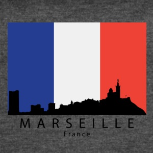 Marseille France Skyline French Flag - Women's Vintage Sport T-Shirt