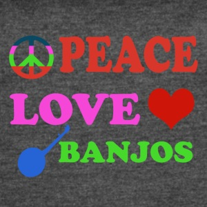 Peace love Banjos - Women's Vintage Sport T-Shirt
