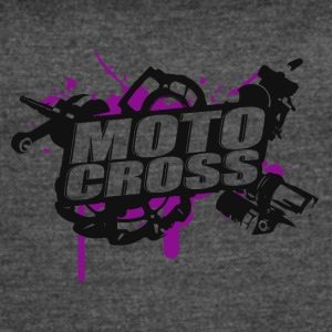 Motorcross Cross Vol.I p/b - Women's Vintage Sport T-Shirt