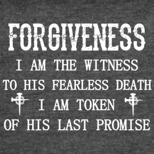 Forgivness Im Witness To His Fearless Death Jesus - Women's Vintage Sport T-Shirt