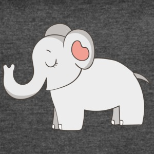 Cute Elephant - Women's Vintage Sport T-Shirt
