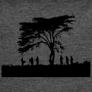 TREE AND PEOPLE SHADOW - Women's Vintage Sport T-Shirt