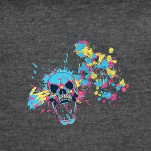 COLORED SKULL - Women's Vintage Sport T-Shirt
