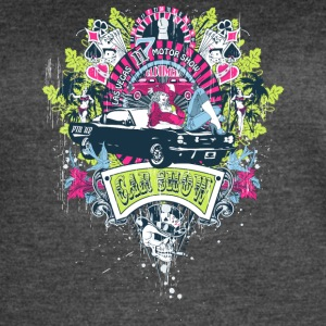 motor_show_cars_and_girls - Women's Vintage Sport T-Shirt