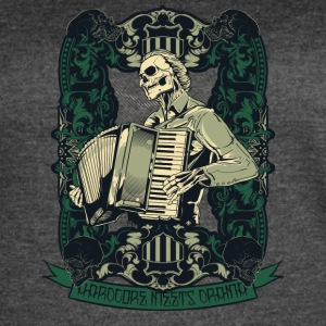skull with accordion - Women's Vintage Sport T-Shirt
