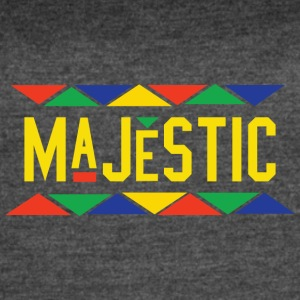 Majestic (Yellow Letters) - Women's Vintage Sport T-Shirt