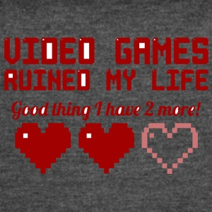 Video Games Ruined My Life vectorized - Women's Vintage Sport T-Shirt