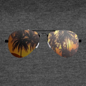 glasses with palm trees - Women's Vintage Sport T-Shirt