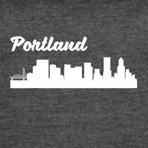 Portland OR Skyline - Women's Vintage Sport T-Shirt