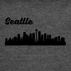 Seattle WA Skyline - Women's Vintage Sport T-Shirt