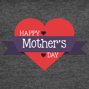 happy_mother-s_day_red_heart - Women's Vintage Sport T-Shirt