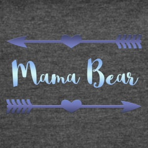 Mama Bear- Blue Gradient Design - Women's Vintage Sport T-Shirt
